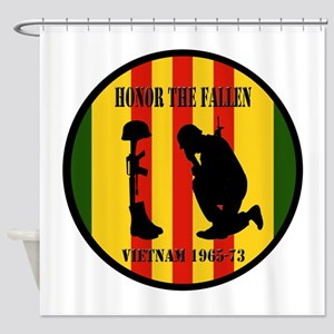 Honor the Fallen Vietnam 1965-73 Shower Curtain