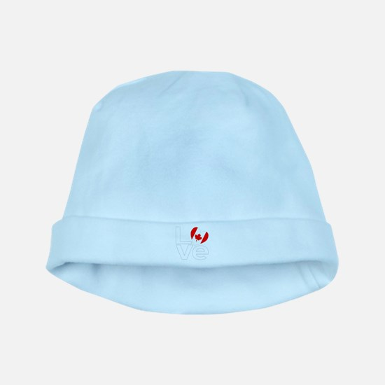White Canadian LOVE baby hat
