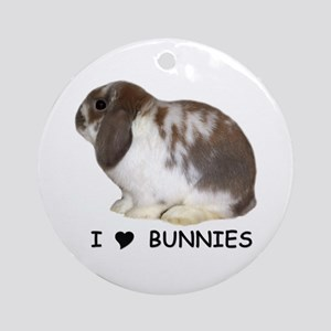 """I love bunnies 1"" Ornament (Round)"