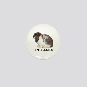 """I love bunnies 1"" Mini Button"