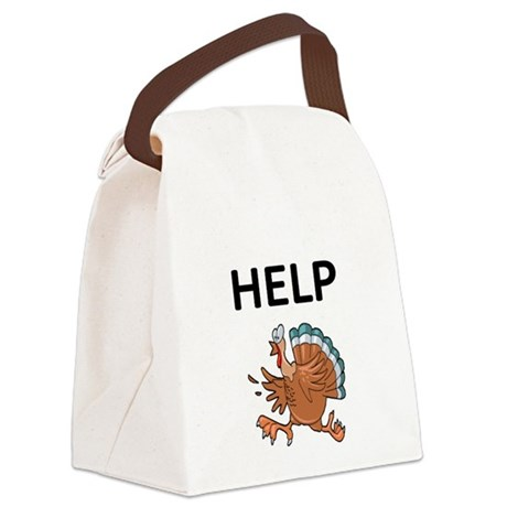 HELP WITH TURKEY Canvas Lunch Bag
