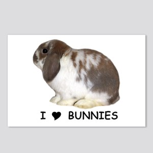 """I love bunnies 1"" Postcards (Package of 8)"