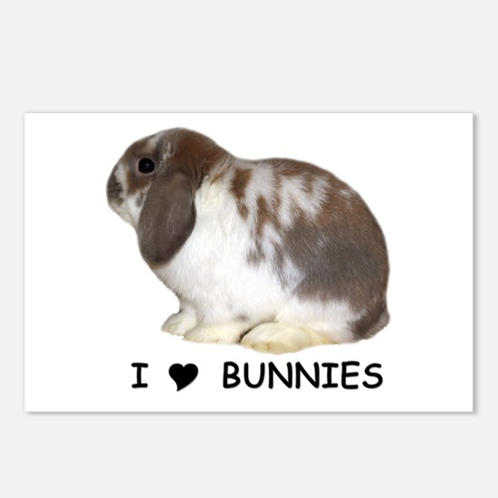 """""""I love bunnies 1"""" Postcards (Package of 8)"""