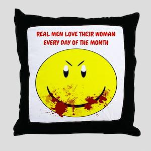 Real Men Love Their Woman... Throw Pillow