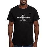 Have gun will travel Fitted Dark T-Shirts