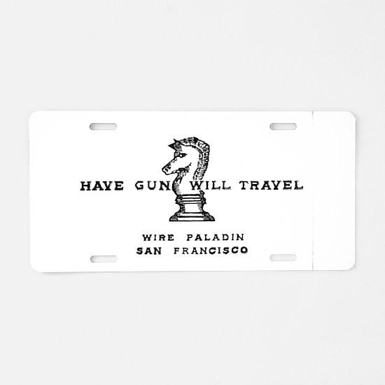 Cute Paladin Aluminum License Plate