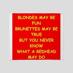 redhead Throw Blanket