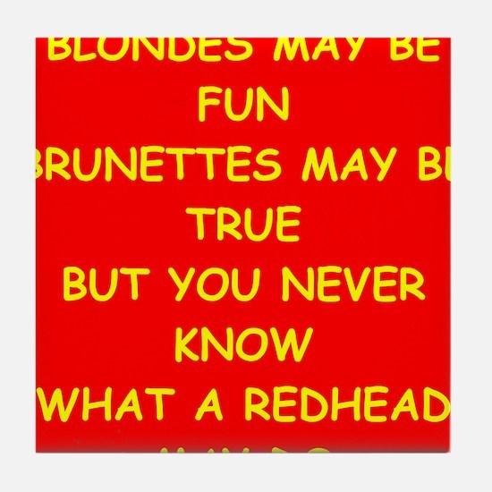 redhead Tile Coaster