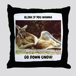 Go Down Unda Throw Pillow