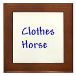Clothes Horse Framed Tile
