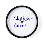 Clothes Horse Wall Clock
