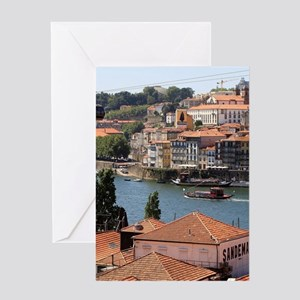 Porto, Portugal, from the roof tops Greeting Cards