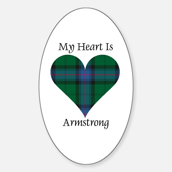 Heart - Armstrong Sticker (Oval)