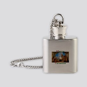 Merry Christmas Flask Necklace