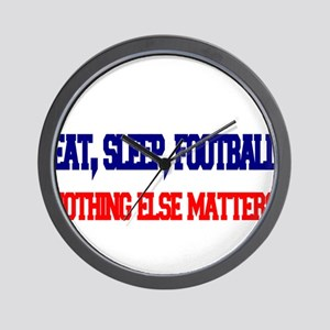 EAT,SLEEP,FOOTBALL Wall Clock