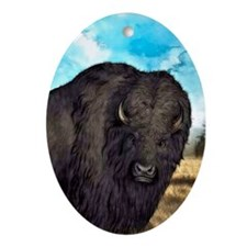 Prairie Bison Ornament (Oval)