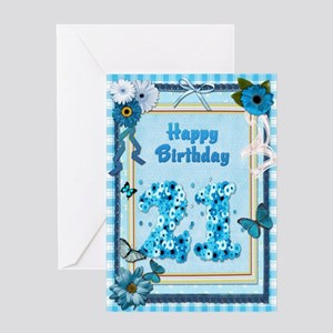 21st Birthday Craft Look Card Greeting