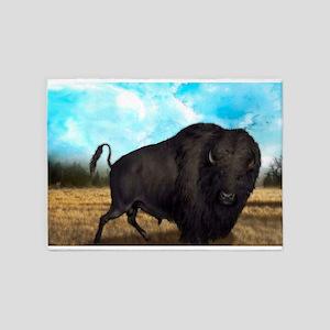 Prairie Bison 5'x7'Area Rug