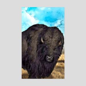 Prairie Bison Sticker (Rectangle)
