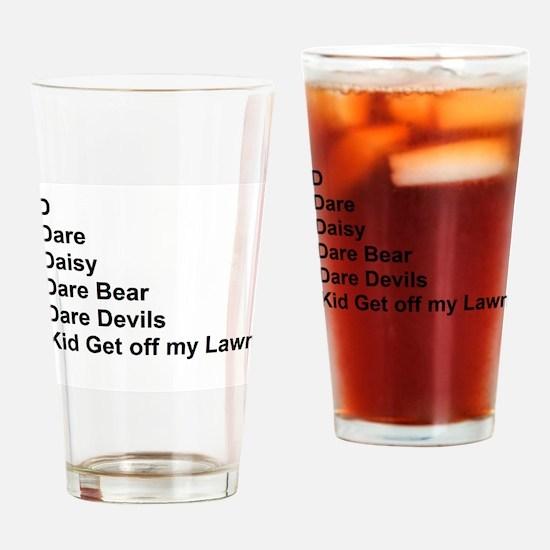 List of Darren's Nicknames Drinking Glass