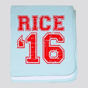 Rice 2016 baby blanket