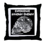 Crystal Skull Synergy Throw Pillow