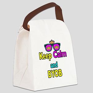 Crown Sunglasses Keep Calm And BYOB Canvas Lunch B