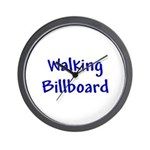 Walking Billboard Wall Clock