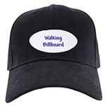 Walking Billboard Black Cap with Patch