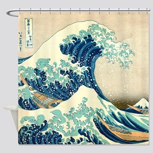 Great Wave off Kangawa by Hokusai Shower Curtain