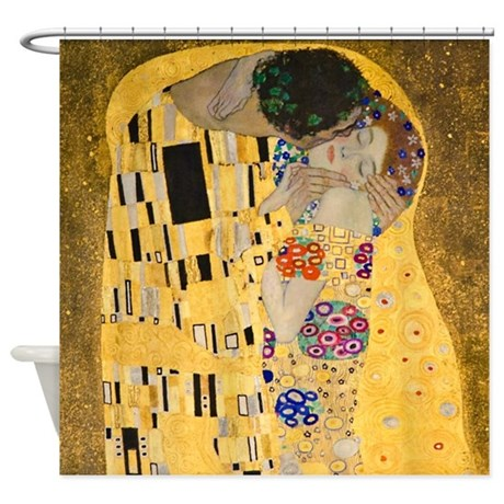 The Kiss By Klimt Shower Curtain InspirationzStore
