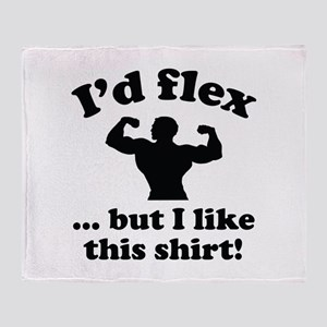 I'd Flex... But I Like This Shirt! Stadium Blanket