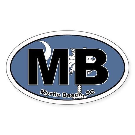 Myrtle Beach, SC Oval Sticker