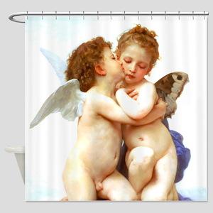 Bouguereau First Kiss Angels Shower Curtain