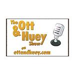 Ott & Huey Logo 35x21 Wall Decal