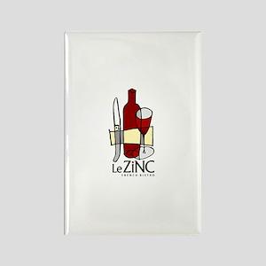 Le Zinc Rectangle Magnet