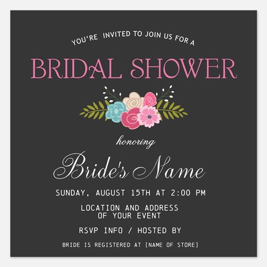 Trendy Bridal Shower Invitation Flat Cards