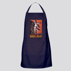 Candy, Italy, Vintage Poster Apron (dark)