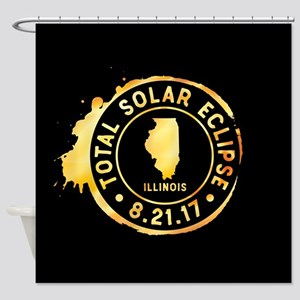 Eclipse Illinois Shower Curtain
