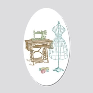 Dressmaker 20x12 Oval Wall Decal