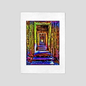 door to door colorful 5'x7'Area Rug
