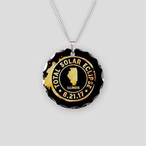 Eclipse Illinois Necklace Circle Charm