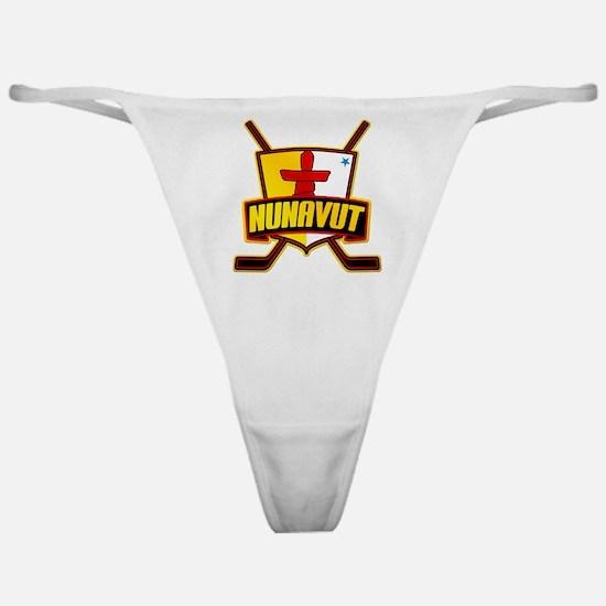 Nunavut Hockey Flag Logo Classic Thong
