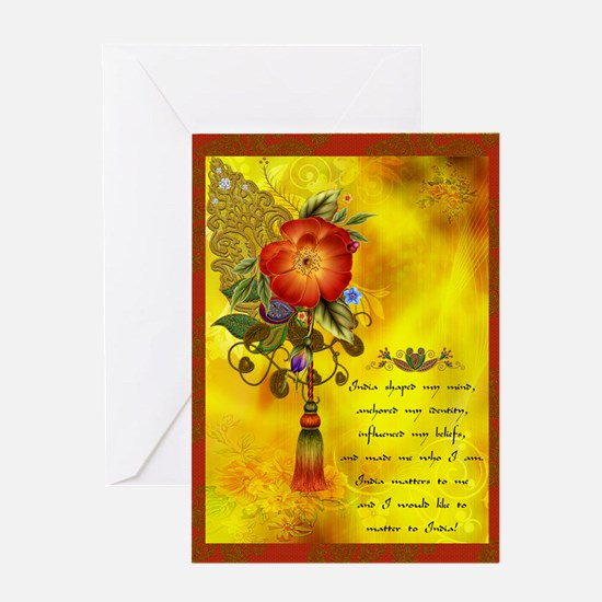 Inspirational India Greeting Card