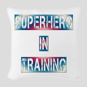 Superhero in Training Woven Throw Pillow