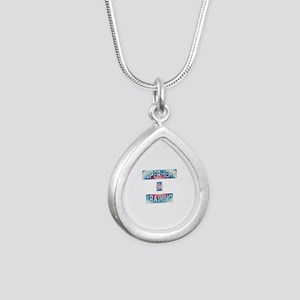 Superhero in Training Silver Teardrop Necklace