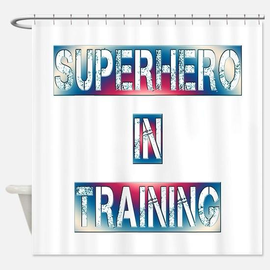 Superhero in Training Shower Curtain
