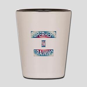 Superhero in Training Shot Glass