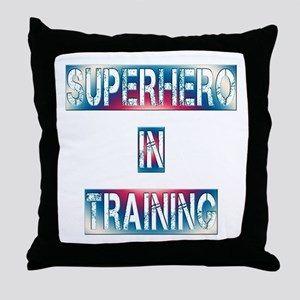 Superhero in Training Throw Pillow