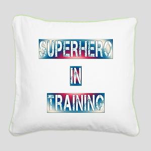 Superhero in Training Square Canvas Pillow